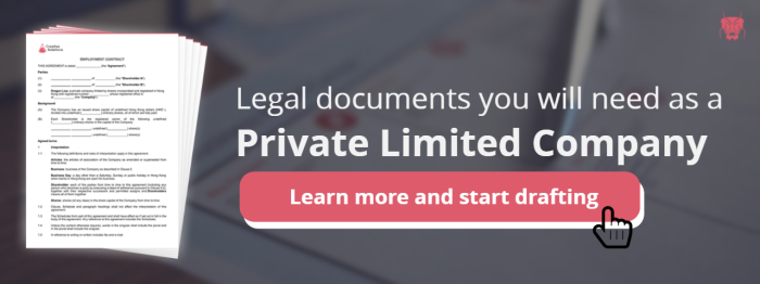 Legal documents for private limited companies