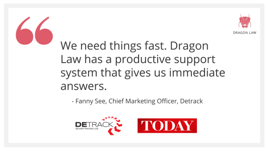 Dragon Law Detrack testimonial