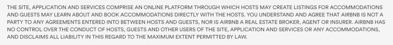 AirBnB Terms of Service